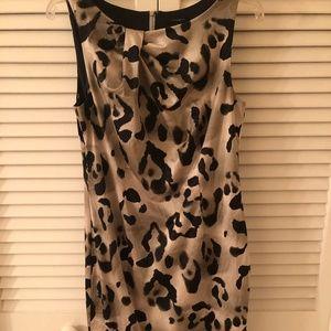 Ann Taylor Leopard Print Career Sheath Dress Sz 6